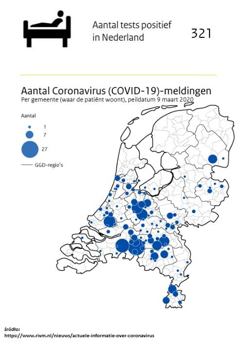 liczba zachorowań na koronawirusa 10 marca najnowsze wiadomości z holandii