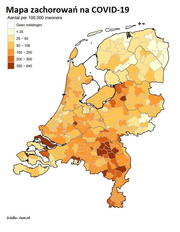 koronawirus raport mapa zachorowań