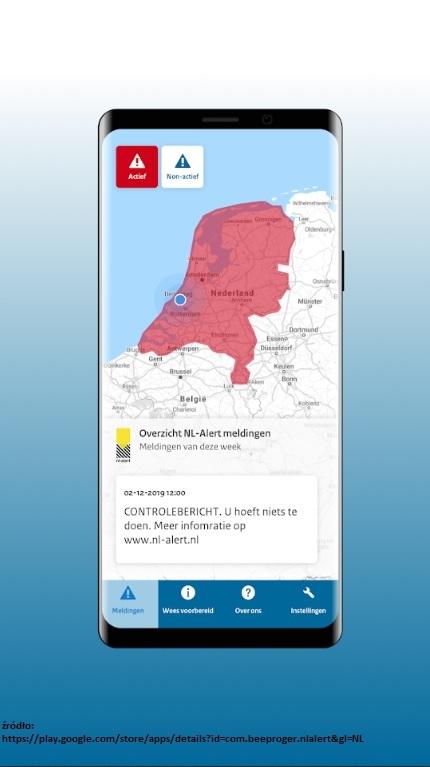 aplikacja nl alert najnowsze wiadomości z Holandii