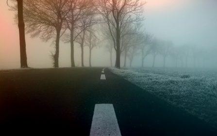 mgły na drogach i przymrozki