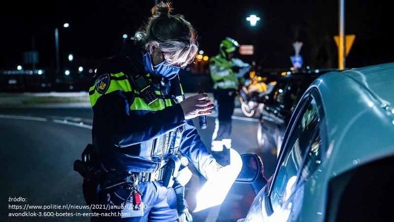 policyjna łapanka w Holandii