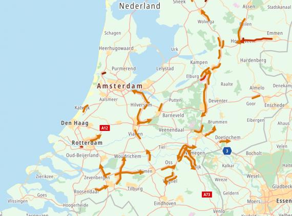 zasypane autostrady Holandia