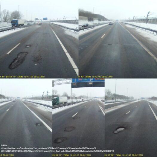 mróz niszczy holenderskie drogi