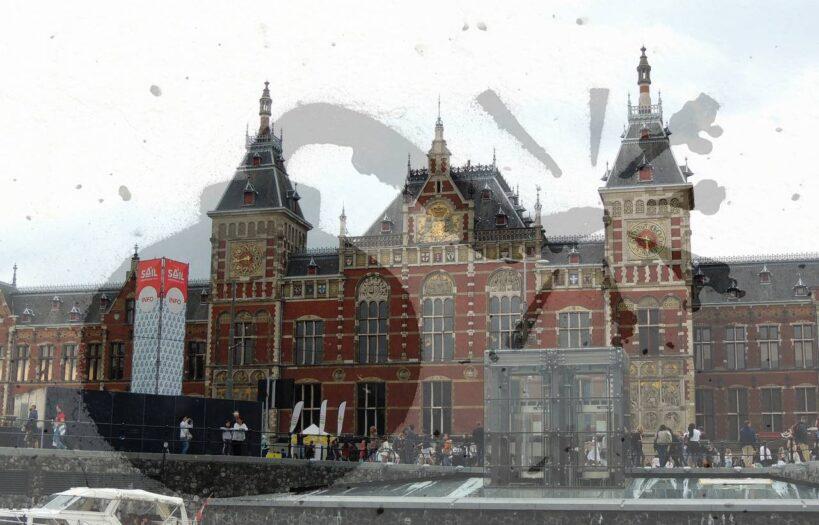 bomba na dworcu w Amsterdamie