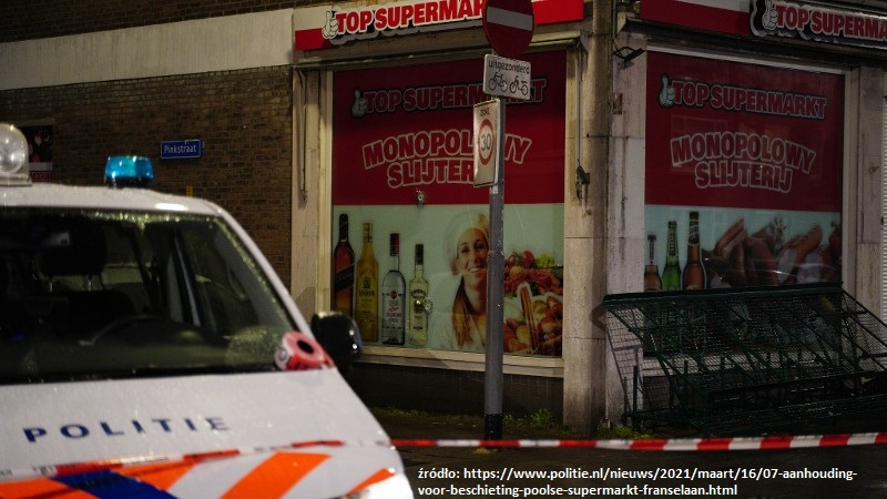 ostrzelany polski supermarket