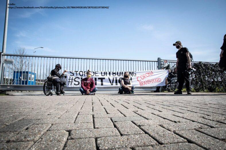 protesty w obronie Polaków w Vion