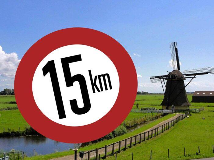 ograniczenie prędkości do 15 km/h